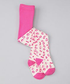 Take a look at this Pink Leopard Tights - Infant & Toddler by Sweet Potatoes on #zulily today!