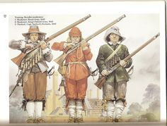 English Civil War Royalist musketeers