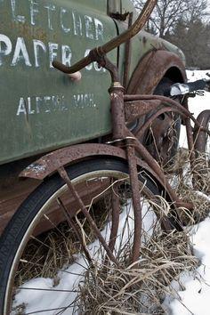 Vintage bike & truck