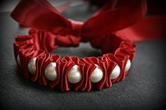 Ribbon bracelet, love the ruffle effect!