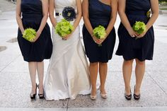 Cute flowers for navy and green wedding