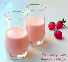Strawberry Lassi Recipe by The Foodie Delight