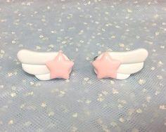 Star Wing Ring Pair Pink x White from Pastel Skies - Lolita Desu