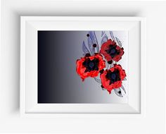 Large Flowers Poppy,Poppy Print,floral print, flower print, flower wall decor…