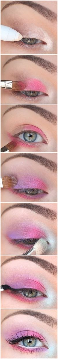 pink and purple Maquillaje