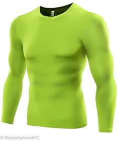 b8944e0ae80 Men s Green Quick Dry Compression Shirt