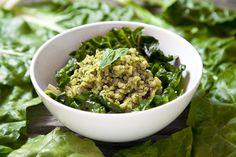 Pesto Brown Rice with Sautéed Swiss Chard (Vegan & GF) | picklesnhoney.com