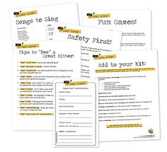 """Bee"" a Great Sitter Printables"