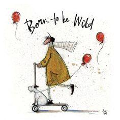 Born to be Wild von Sam Toft Art Group Format Papier Gr e 30 cm H x 30 cm B x 1 5 cm T Art Fantaisiste, Art Mur, Wall Art, Wallpaper Pc Anime, Born To Be Wild, Painting Prints, Art Prints, Owl Paintings, Canvas Art