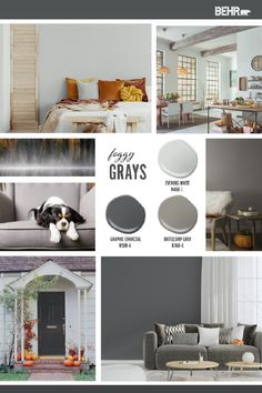 The fall season is well underway. Channel that cozy seasonal spirit in your home with a dark, moody shade of gray. BEHR® Paint in Graphic Charcoal, Battleship Gray, or Evening White are all a stylish choice. Click below to discover more neutral color palette inspiration.