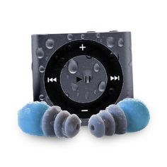 Waterfi Waterproof Apple iPod Shuffle with Short Cord Waterproof Headphones - Best Swimming MP3 Player (New Model) (Space Grey):Amazon:MP3 Players & Accessories
