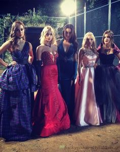 Troian Bellisario, Ashley Benson, Shay Mitchell, Janel Parrish, & Lucy Hale #PLL #CreepyAProm