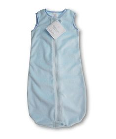 Take a look at this SwaddleDesigns Pastel Blue Velvet zzZipMe Sleeping Sack on zulily today!