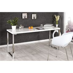 Products Modern desk White Desk white high gloss office table Riess Ambiente Abdominoplasty: T Sideboard Modern, Modern Desk, Modern Table, Bureau Design, Design Desk, Design Tisch, Modern Office Design, Office Designs, Minimalist Room