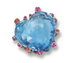 AQUAMARINE, RUBY AND SAPPHIRE RING, LYDIA COURTEILLE - Photo c/o Sothebys