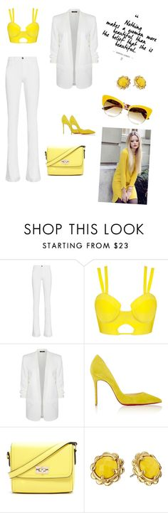 """""""Untitled #8"""" by zejna-husic ❤ liked on Polyvore featuring Frame Denim, Dex, Christian Louboutin, Forever 21, Kate Spade and Dolce&Gabbana"""