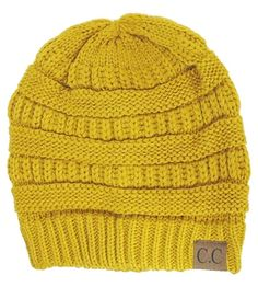 Thick Slouchy Knit Unisex Beanie Cap Hat f809d472017f