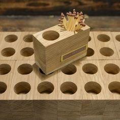 Matchbox made of oak hardwood. Butcher Block Cutting Board, Woodworking Shop, Solid Wood, Hardwood, Scrap, Canning, Design, Instagram, Natural Wood