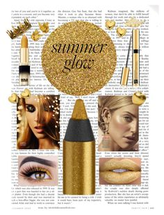 """""""Summer glow"""" by francesca-croci on Polyvore featuring beauty, Urban Decay, Estée Lauder, Bitossi and Seletti"""
