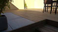 Terrasse Kebony et grès-cérame