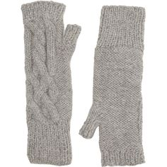 Eugenia Kim Women's Joelle Fingerless Gloves (£140) ❤ liked on Polyvore featuring accessories, gloves, grey, eugenia kim, gray gloves, grey fingerless gloves, grey gloves and gray fingerless gloves