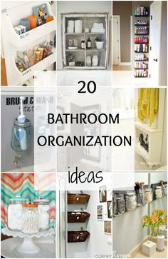 20 bathroom organization ideas via a blissful nest great design tips to get your home
