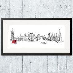 London Skyline Print - contemporary art