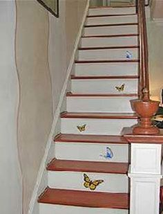 Image result for unusual painted stairs