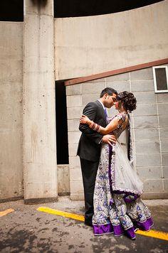 Stunning Purple, Blue, and White Lehenga Pakistani Wedding Dresses, Punjabi Wedding, Indian Wedding Outfits, Wedding Attire, Indian Dresses, Indian Outfits, Indian Clothes, Indian Weddings, Wedding Pics