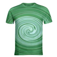 Green and white spiral