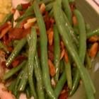 Bacon-Almond Sauteed Green Beans (BC bacon makes everything taste better)