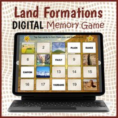 Digital Landforms Game - Land Formations Matching Game by Drag Drop Learning Fun Classroom Activities, Group Activities, Concentration Games, Interactive Whiteboard, Educational Games For Kids, Try To Remember, Memory Games, Matching Games, Vocabulary Words