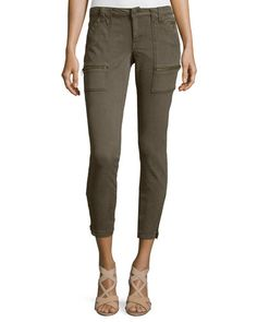 Park Twill Skinny Cargo Pants, Fatigue by Joie at Neiman Marcus. Joie Clothing, Skinny Cargo Pants, Twill Pants, Cropped Trousers, Workout Pants, Skinny Fit, Black Jeans, Legs, Fitness
