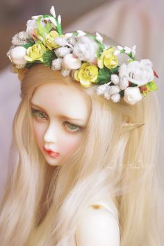 Garden of Eden hairband corolla wreath for bjd sd 811 by AyuAna