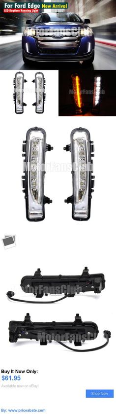 Motors Parts And Accessories Led Daytime Running Light For Ford Edge Suv Fog Lamp Drl   Turn Signal Buy It Now Only