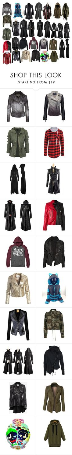 """Girl Jackets 17"" by spellcasters ❤ liked on Polyvore featuring MuuBaa, s.Oliver, Misbehave, Rick Owens, Sans Souci, J.TOMSON, Faith Connexion, Religion Clothing, Alexander McQueen and LE3NO"