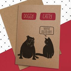 Are you interested in our doggy catty card? With our funny dog cat card you need look no further.