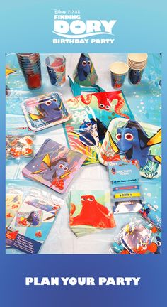 Finding Dory party supplies include plates, napkins, cups, party favors, party decorations, and other fun products. Visit our Finding Dory page today: http://www.discountpartysupplies.com/girl-party-supplies/finding-dory-party-supplies?utm_source=Pinterest&utm_medium=Social&utm_content=FindingDoryPartySupplies&utm_campaign=Finding_Dory_Promoted_Pin