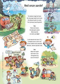 Red onze aarde - gedicht @keireeen Air Pollution Poster, Co Teaching, Karen, Climate Change, Spelling, Kindergarten, Drama, Challenges, Classroom