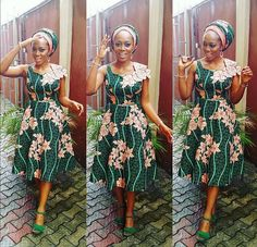 Yomi in Beautiful Swarovski Blinged Ankara Styles - Ankara collections brings the latest high street fashion online