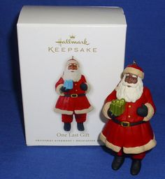 Hallmark Ornament One Last Gift 2010 African American Santa Claus NIB See Box #Hallmark #Ornaments