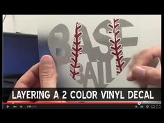How to layer a multi color Baseball vinyl decal for a car window - YouTube