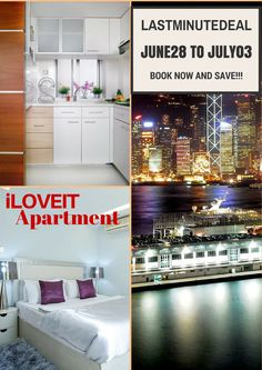GRAB THE CHANCE TO BOOK AND STAY IN MY LUXURIOUS iLOVEIT Apartment in Causeway Bay, Hong Kong.  Avail our Last Minute Deal from June 28 to July 3-2015!  Please send your inquiries at booking.iloveit@gmail.com.