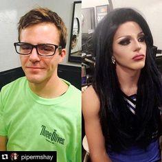 @pipermshay (Arizona - USA) -> DM ALSO your #beforeandafter  and #followme ** transformationtuesday #makeup #instamood #tranny #tgirl #shemale androgynous #dragqueen #transvestite #transgender #transexual girl #dragqueenmakeup #ladyboy #makeup #instagay #mtf #rupauldragrace #drag #crossdressing #photooftheday #lgbt #queer #crossdresser diva  #rupaul #crossdress #travesti #transformation #genderfluid  #men #women #artist twoface style boyandgirl world gay lesbian lgbt gayworld