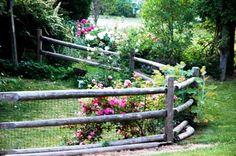 Log fenced garden