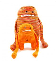 Love all of Rebecca Danger's knitted patterns, the monsters are great ad so quirky
