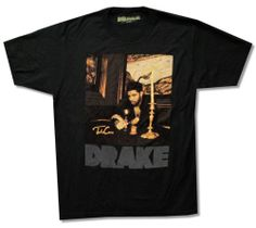 DRAKE - CANDLESTICK PORTRAIT BLACK T-SHIRT TAKE CARE NEW OFFICIAL RAP RAPPER