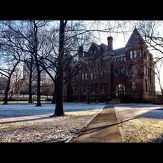 The Vorhees Mall (College Ave.) in winter. Ahhhhh! Smell the Art History!