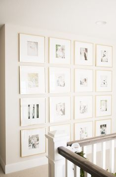 Tour: Bria Hammel Interiors - Bilder Haus - Pictures on Wall ideas Gallery Wall Frames, Stairway Gallery Wall, Gallery Walls, Picture Frames On The Wall Stairs, Picture Walls, Photo Walls, Home Design, Interior Design, Interior Paint