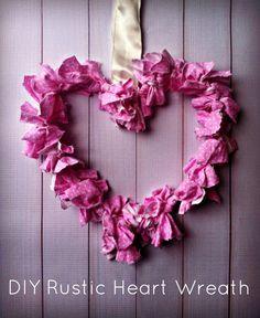 Valentine's Day Decoration: #DIY Rustic Heart Wreath